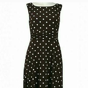 Jessica Howard  brown polka dot dress